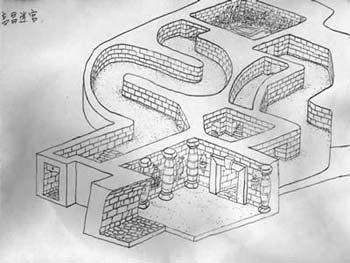 手绘森系迷宫图